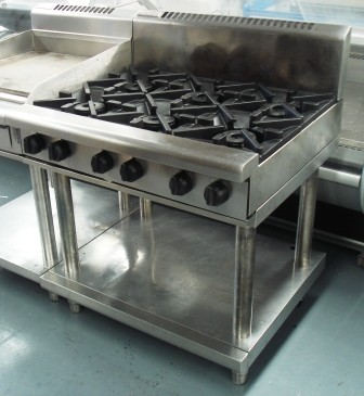 Waldorf 6 Burner Stove Top Natural Gas Commercial