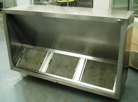 Sold Stainless Steel Exhaust Canopy 3 Filter Sold