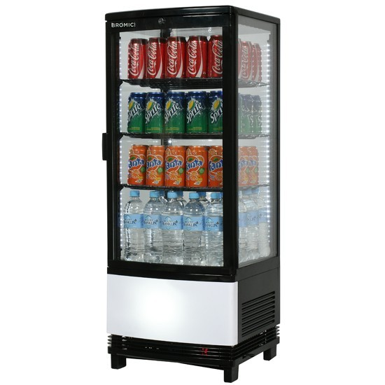 Bromic Countertop Beverage Chiller Curved Glass 100l