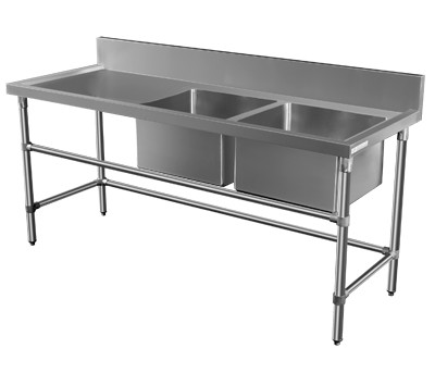 ... Double Sink Bench 700 Series Commercial Kitchen Equipment Australia