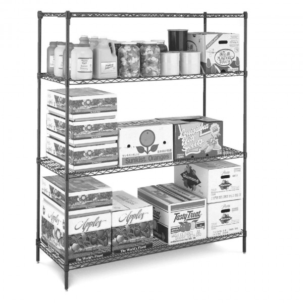 Metro Super Erecta Metroseal 3 Stainless Steel 3 Tier Wire Shelving Commercial Kitchen