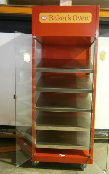Mobile Steel Framed 5 Tier Bakery Display Used