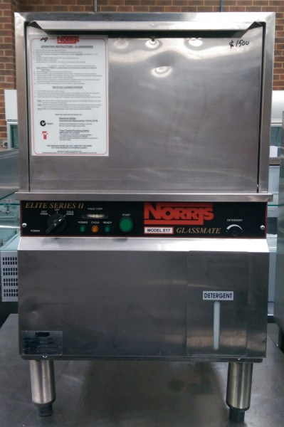 Norris Glass Washer E17 Elite Underbench Stainless Steel