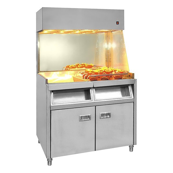 F e d fry station freestanding large vf 10 commercial for Cuisine commerciale equipement