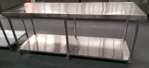 Used Simply Stainless 2100mm Mobile Work Bench