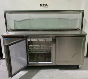 Ex-display Ice Blue Sandwich Bar Fridge