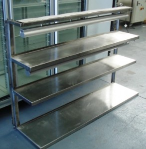 Sold Stainless Steel Wall Mounted Shelf 3 Tier