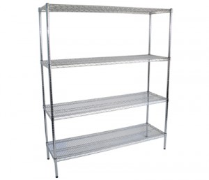Chrome Plated Wire Shelves , Commercial Kitchen Racks 610 X 455 X ...