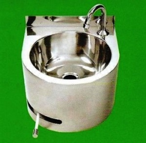 3 Monkeez Round Knee Operated Hand Wash Basin Commercial
