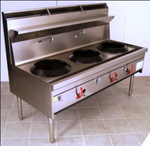 Supertron wok burners w17r series 17 inch wok tables for Viking wok burner