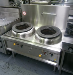 888 Wok Burner Two Hole Waterless Commercial Kitchen