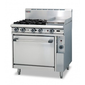 Gas 4 Open Top Burners 300 Griddle Gas O