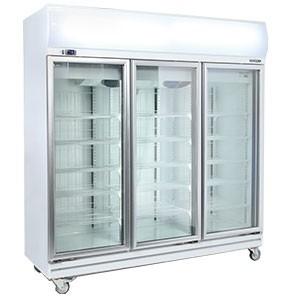 Bromic Glass 3 Doors Fan Forced Chiller 1507l W Lightbox