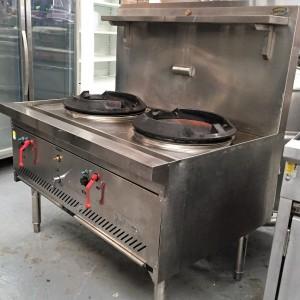 Sold used supertron chinese wok double burner model for Viking wok burner