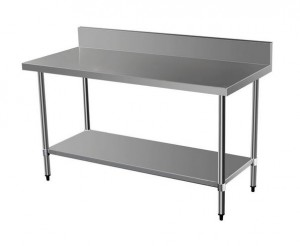 EXQUISITE WBS Grade Stainless Steel Tables With Spalashback - Commercial grade stainless steel table