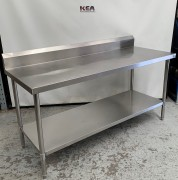 Stainless steel work bench with Splashba