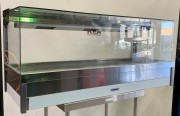 ROBAND Square Glass Hot Food Display Bar