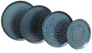 Black Steel perforated Pizza pan