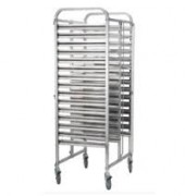 ICE Stainless Steel 2x15 Tier GN Trolley