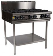 Gas 4 Open Top Burners 300 Griddle