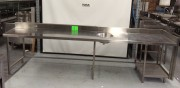 3470 mm Stainless Steel Bench with hand