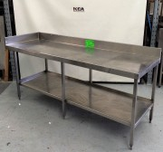 2200 mm Stainless Steel Bench