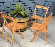 FOLDABLE TIMBER CHAIRS