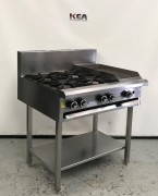 LUUS 4 burner cooktop & 300mm grill MODE