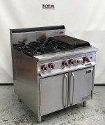 SUPERTRON 4 Burner & 300mm BBQ Range Ove