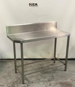 Stainless Steel Bench with Splashback 50