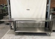 2800mm Stainless Steel Bench with hand b