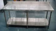 STAINLESS STEEL BENCHES USED